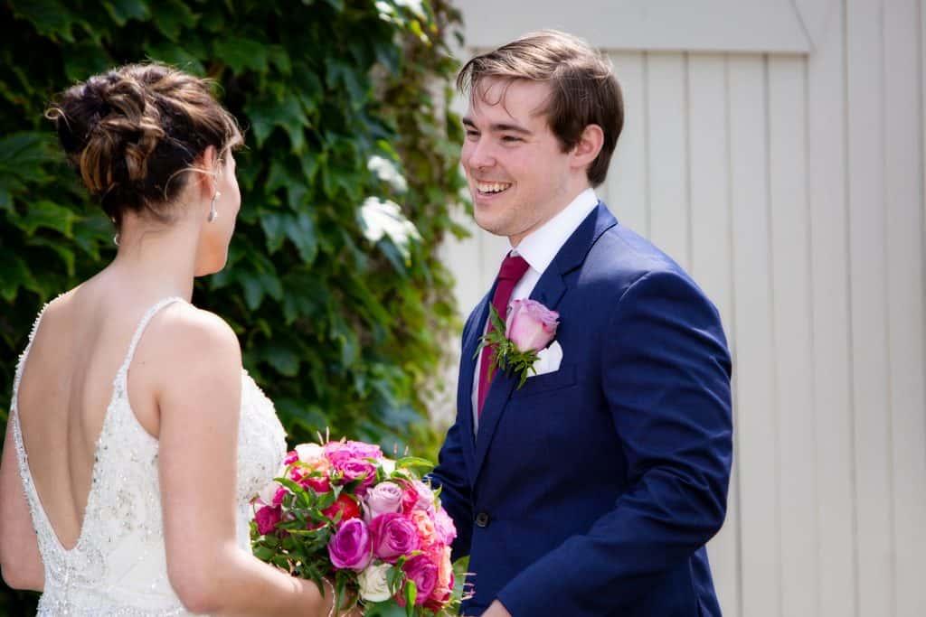 Liz and Nick Smiling