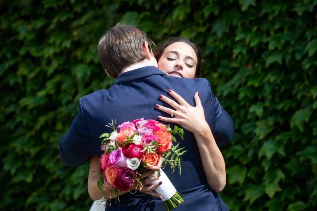 Liz and Nick Hugging