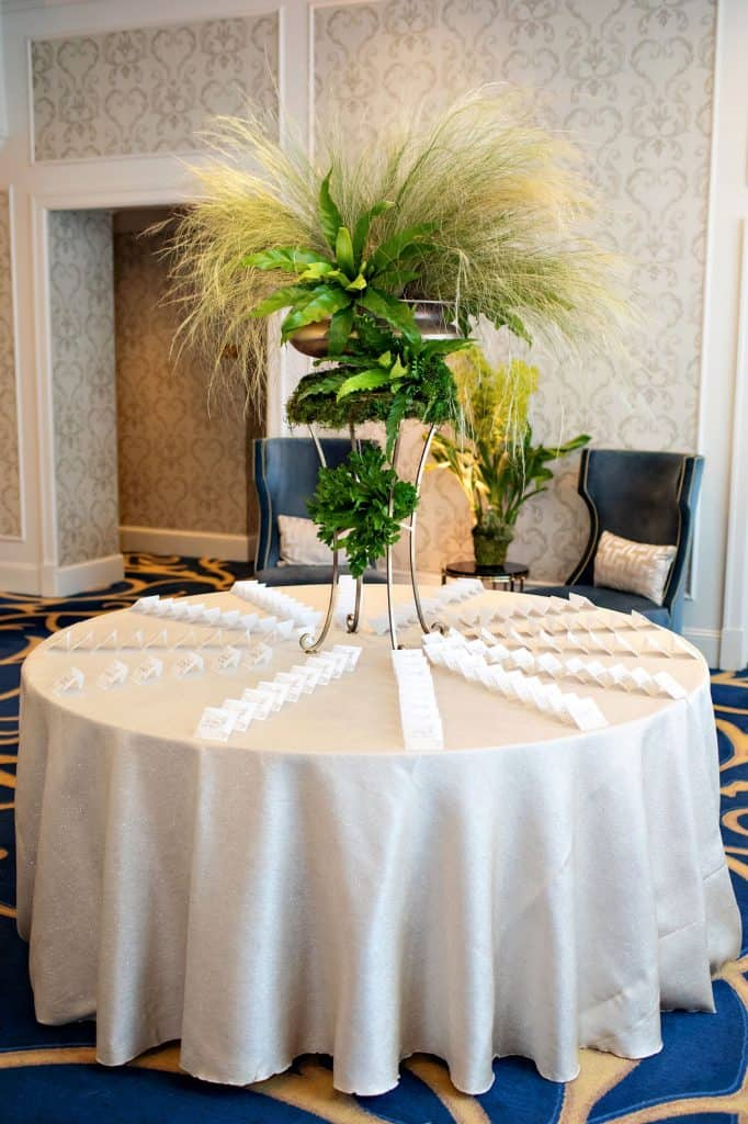 Table with Place Cards