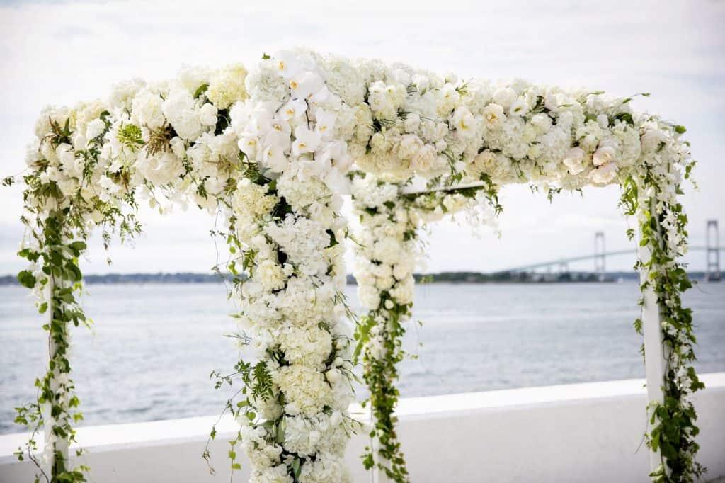 Chuppah of White Roses