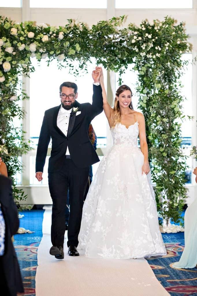 Bride and Groom Under Huppah
