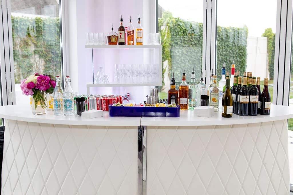Wet Bar at Wedding Reception
