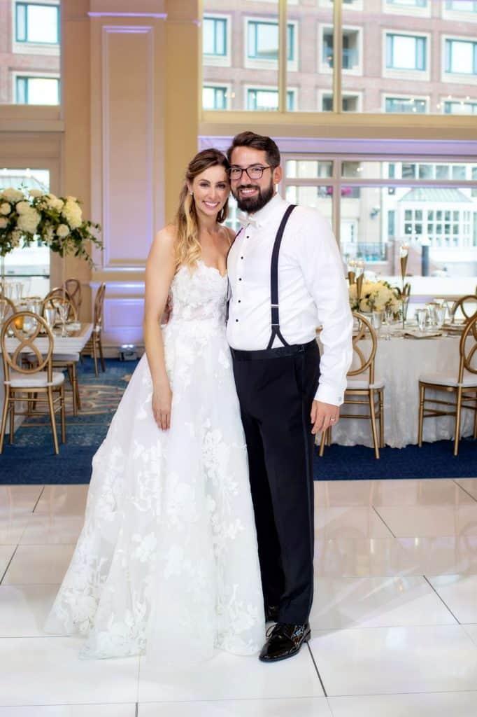 Bride and Groom at Boston Harbor Hotel