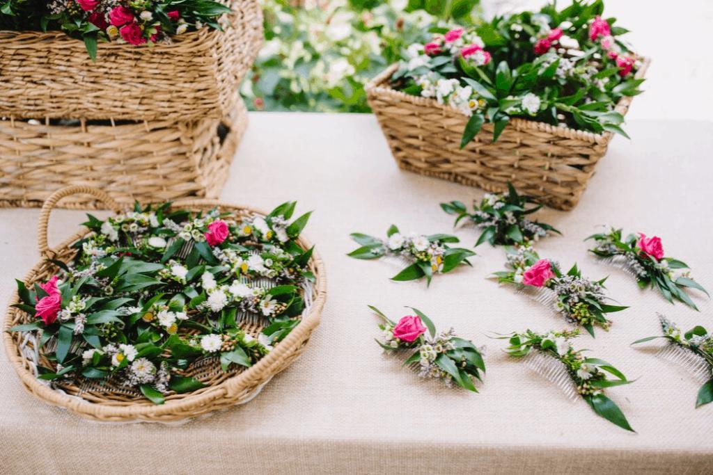 Floral Comb Pieces