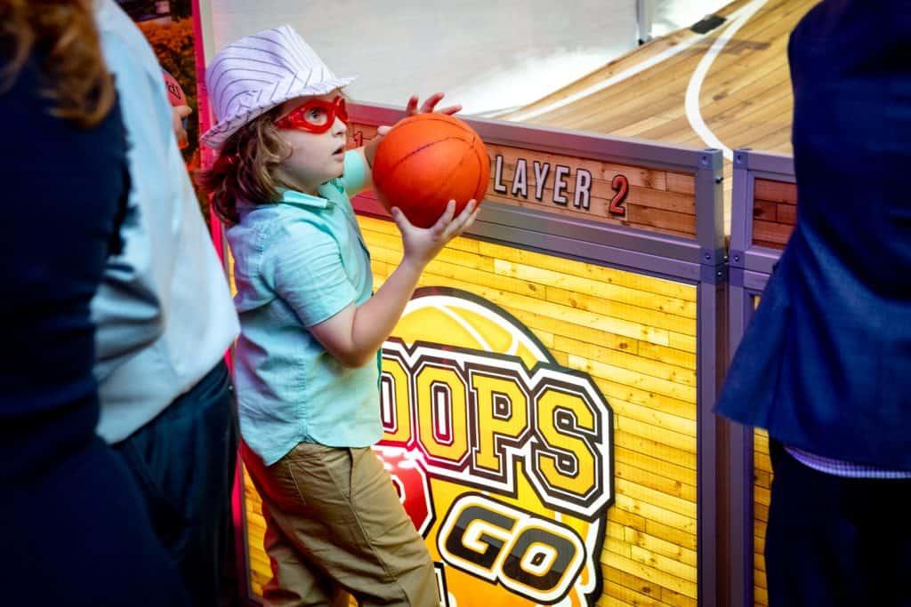Bar Mitzvah Attendees Playing Basketball