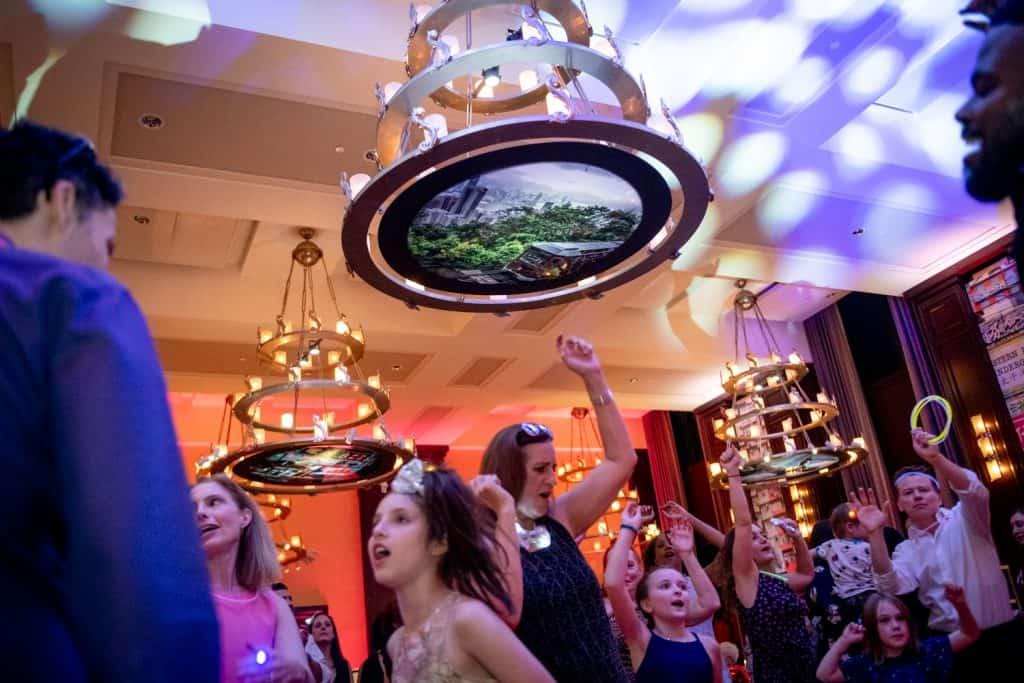 Bar Mitzvah Attendees Dancing