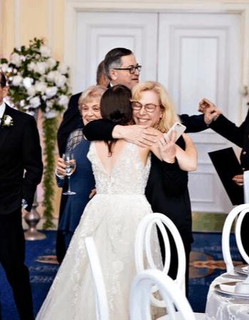 Jodi Hugging the Bride