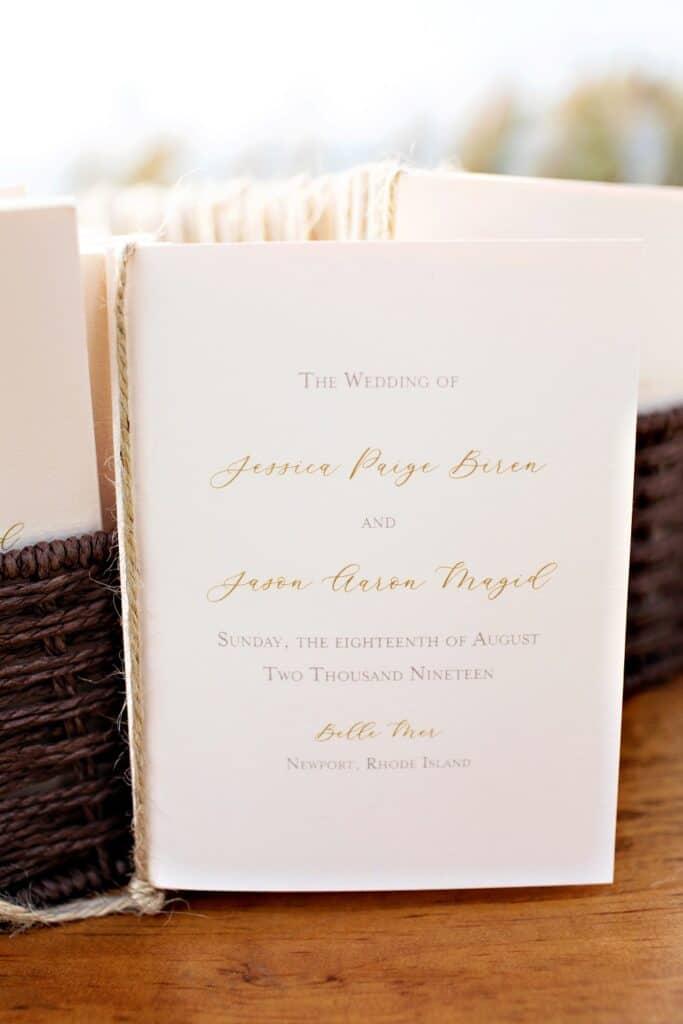 Jason and Jessica Wedding Invitations