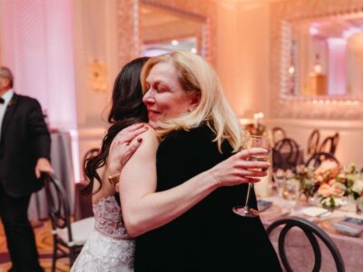 Jodi Hugging Bride