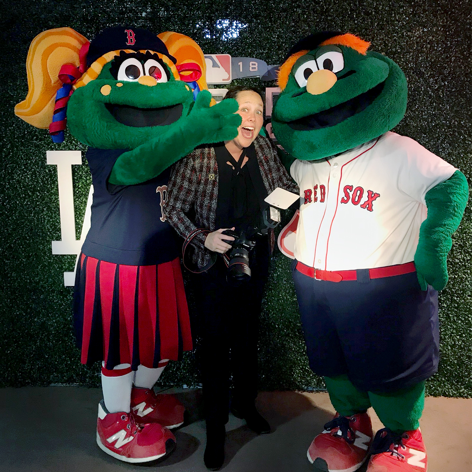 Jill Person with Wally and Tessie