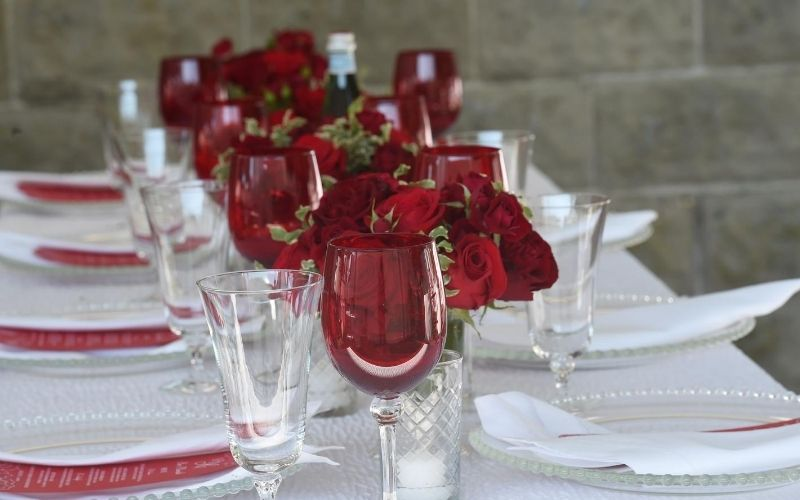 Red Winter Place Setting